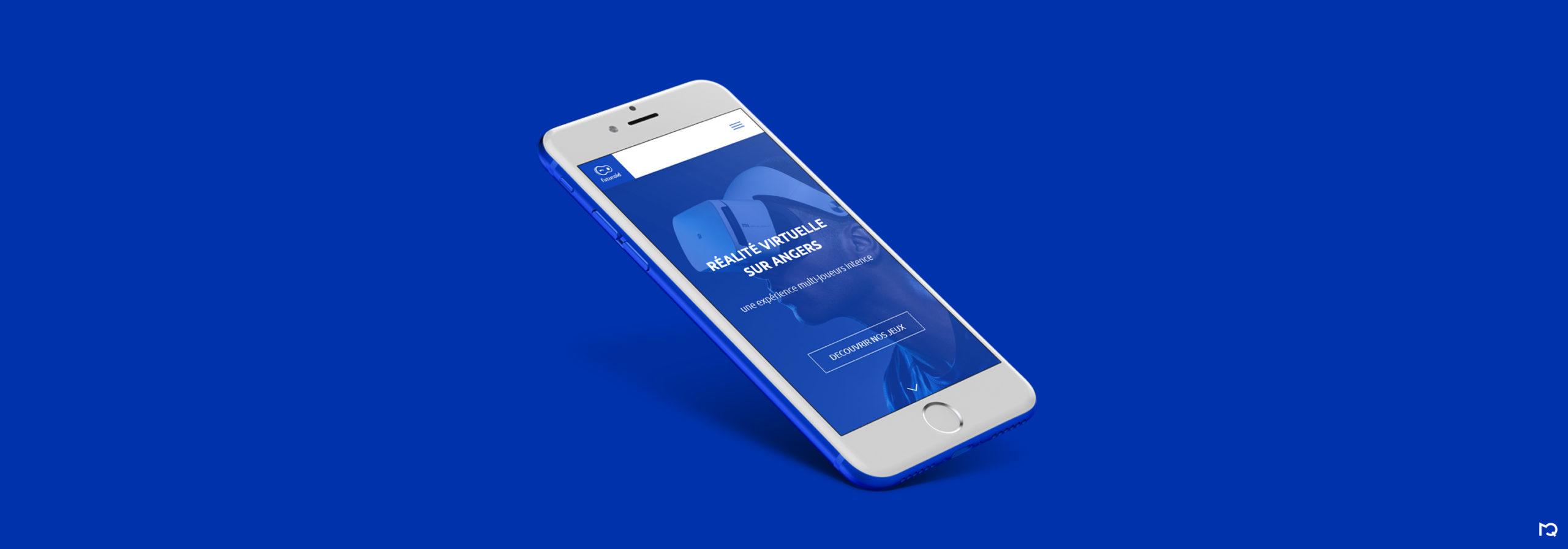 Page d'accueil Futuroid sur mobile
