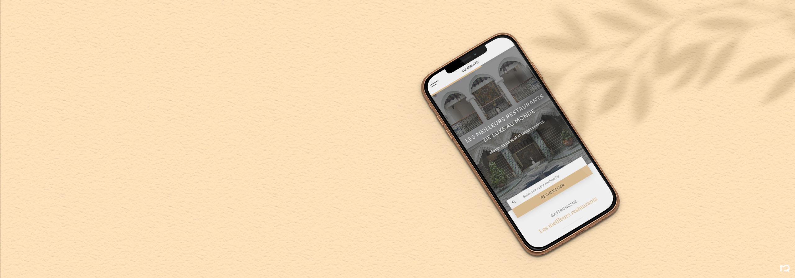 Maquette page d'accueil sur mobile