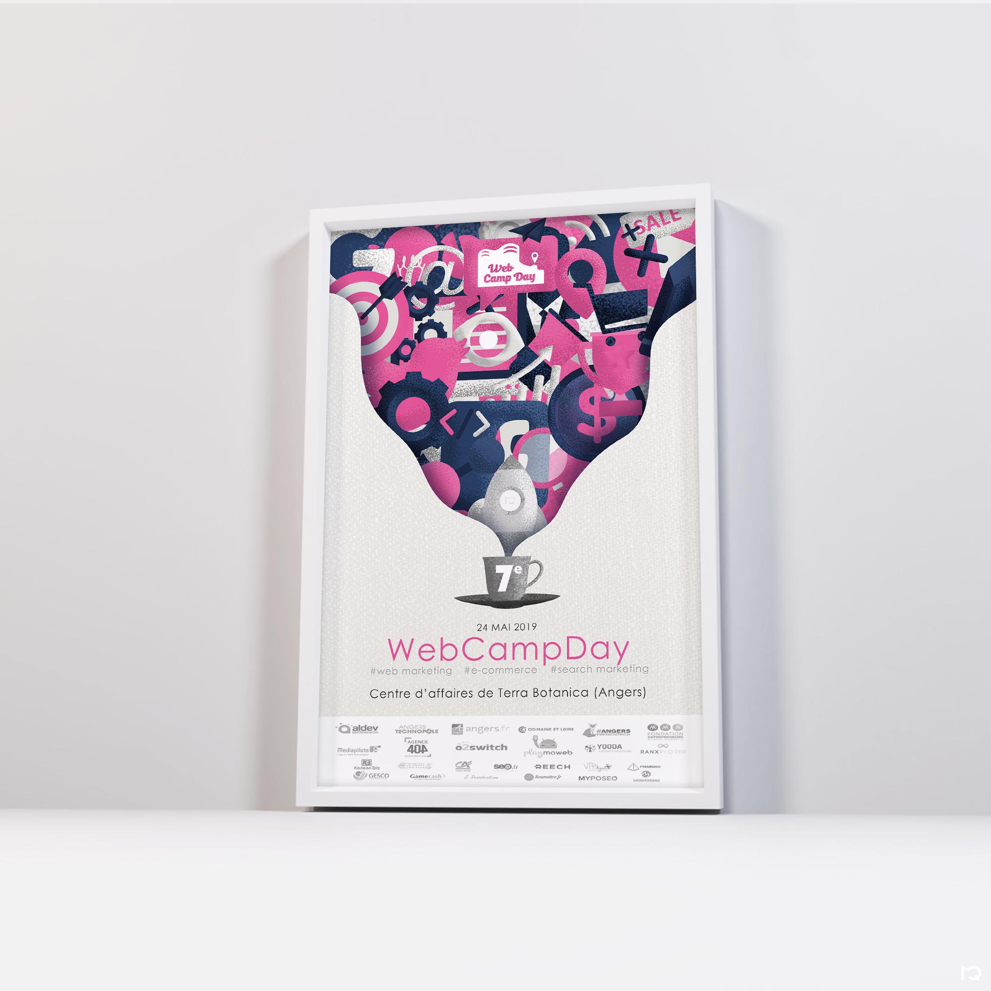 Affiche au format A4 de la 7ème édition du WebCampDay
